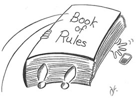 Image result for rule book cartoon